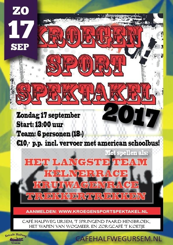 Poster KroegeSportSpektakel 2017 in Ursem
