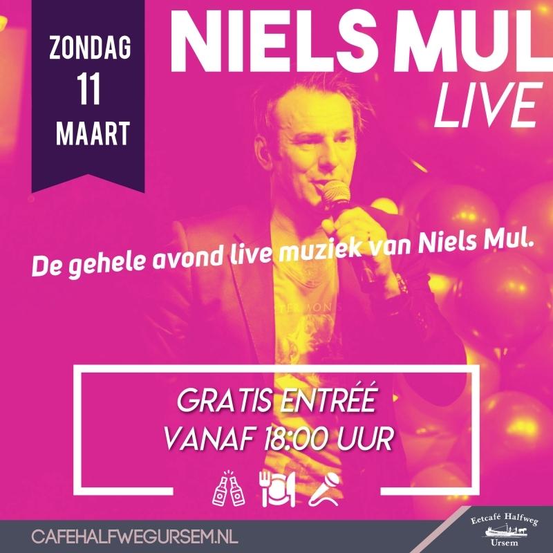 Niels Mul op 11 maart gratis in ons leuke cafe in Ursem